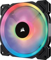 CORSAIR LL140 mit doppelter RGB-Lichtschleife LED Gehäuselüfter, Schwarz/Mehrfarbig