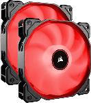 Saturn Lüfter Air Series LED Red AF140, 140mm, 2er-Pack (CO-9050089-WW)