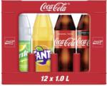 real Coca-Cola*, Fanta oder Sprite (*koffeinhaltig), versch. Sorten, 12 x 1 Liter, jeder Kasten - bis 18.07.2020