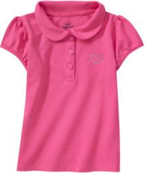 Mädchen Poloshirt mit Ziersteinchen (Nur online)