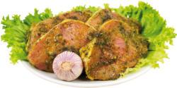 Schweine Kotelett in Scheiben mariniert