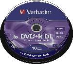 MediaMarkt DVD+R Double Layer 10er Spindel Matt Silver 8x