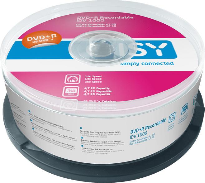 ISY IDV-1000 DVD+R 25er Spindel DVD+R