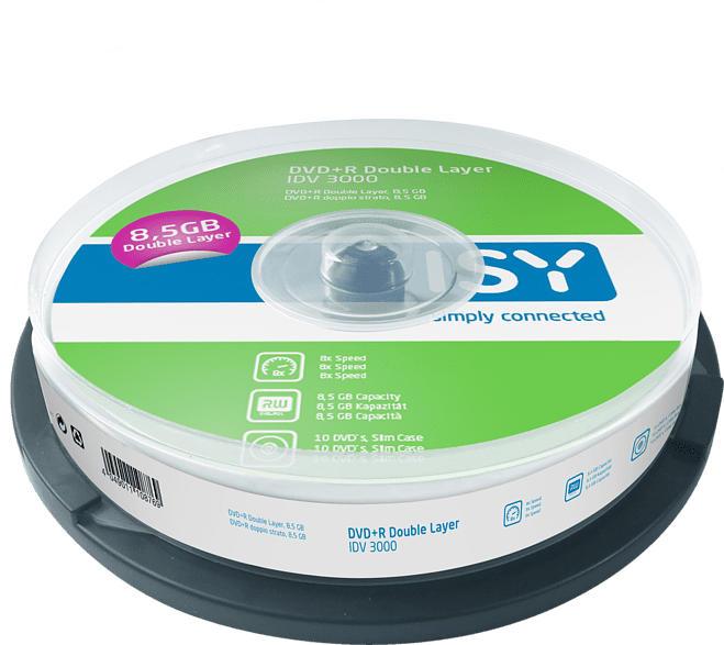 ISY IDV-3000 DVD+R DL 10er Spindel DVD+R