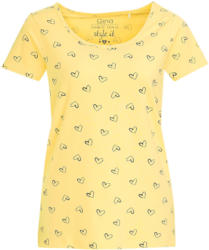 Damen T-Shirt mit Herz-Allover