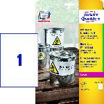 MediaMarkt Wetterfeste Folien-Etiketten, 210 x 297 mm, 20 Bogen/20 Etiketten, weiß (L4775-20)