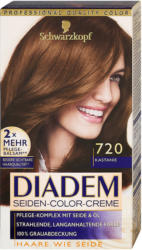Diadem Seiden-Color-Creme dauerhafte Haarfarbe - Nr. 720 Kastanie
