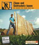 Hornbach Projekt - Zäune und Sichtschutz bauen