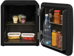 exquisit RKB05-14 A+ sw Minikühlschrank/Kühlbox Retro
