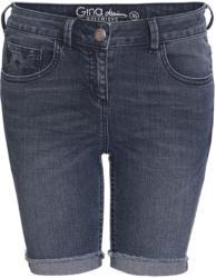 Damen Jeansshorts mit fixierten Umschlägen