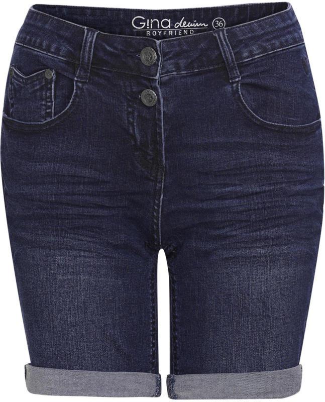 Damen Boyfriend-Jeansshorts mit Used-Waschung (Nur online)