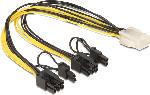 Saturn Kabel PCI Express Stromversorgung 6 Pin Buchse zu 2x 8 Pin Stecker (83433)