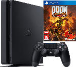 Saturn PlayStation 4 Slim Konsole 500 GB + DOOM Eternal
