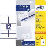 Saturn Universal-Etiketten, ultragrip , 97 x 42,3 mm, 30 Bogen/360 Etiketten, weiß (4781)