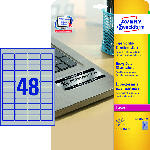 MediaMarkt Typenschild-Etiketten, 45,7 x 21,2 mm, 20 Bogen/960 Etiketten, silber (L6009-20)