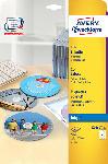 Media Markt CD-Etiketten SuperSize, Ø 117 mm, 25 Bogen/50 Etiketten, weiß (C9660-25)