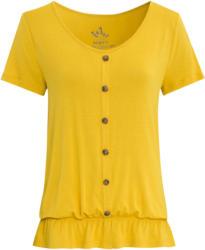 Damen T-Shirt mit imitierter Knopfleiste