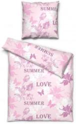 Microfaser Bettwäsche Love rosa 135 x 200 cm