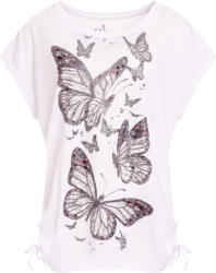 Damen T-Shirt mit Schmetterling-Prints