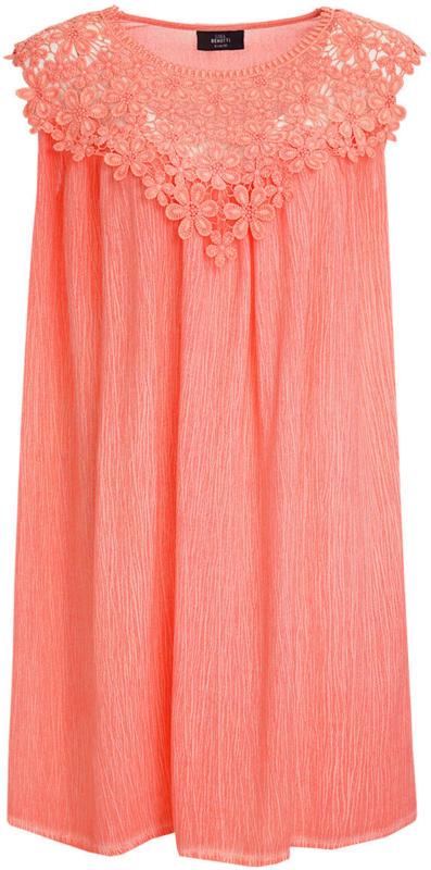 Damen Kleid mit Spitzendetail (Nur online)
