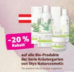 denn's Biomarkt - Wels -20% auf alle Bio-Produkte der Serie Kräutergarten von Styx Naturcosmetic - bis 02.06.2020