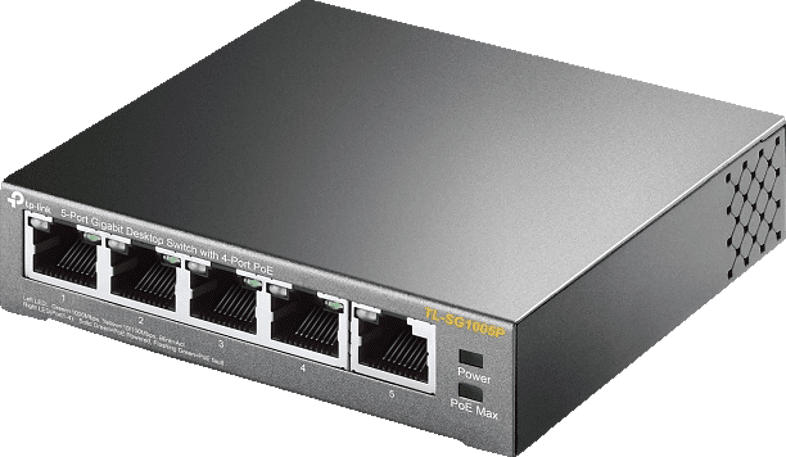TL-SG1000 Desktop Gigabit Switch, schwarz (TL-SG1005P)