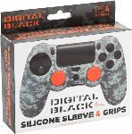 MediaMarkt PS4 Silicone Skin + Grips Camo Pixel Black