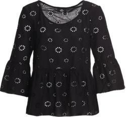 Damen Bluse mit Lochstickerei (Nur online)