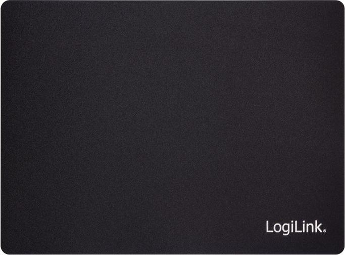 LogiLink Ultra dünnes Gaming Mauspad, schwarz