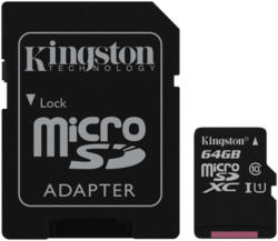 64GB Kingston microSDHC Class 10 45MB/s inkl. SD-Adapter