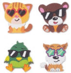 Pagro SPIRIT Sticker Patch Me - Cool Animals 4 Stück bunt