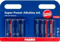 PAGRO Batterie Super Power Alkaline AA 8 Stück