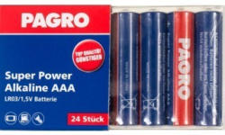 PAGRO Batterie Super Power Alkaline AAA 24 Stück