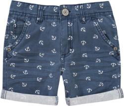 Jungen Shorts mit Anker-Allover