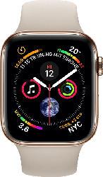 Watch Series 4 GPS + Cellular Gold, 44 mm Edelstahlgehäuse mit Sportarmband Steingrau
