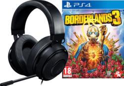 PS4 Kraken Pro V2 for Console Gaming Headset Schwarz + Borderlands 3