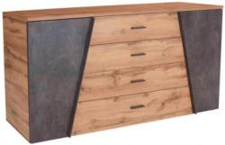 Sideboard Venedig Wotan Eiche Nachbildung/Beton Optik dunkel B/H/T: ca. 180 x 82 x 45 cm