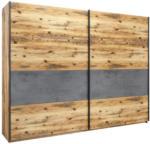 Möbelix Schiebetürenschrank 270cm Alicante, Alpinlook/Betonoxid