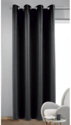 Ösenvorhang Dimout Mia schwarz ca. 140 x 245 cm
