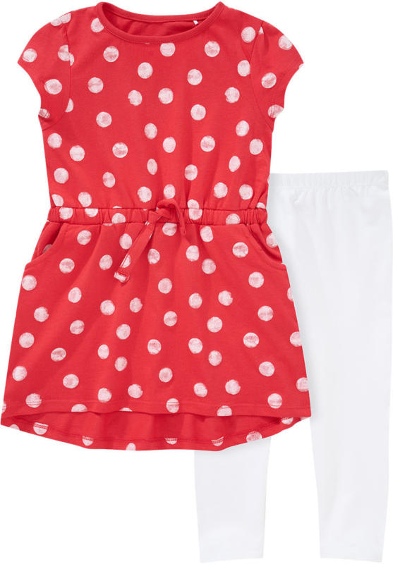 Mädchen Kleid und Capri-Leggings im Set (Nur online)