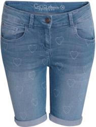 Damen Jeans-Shorts mit Herz-Allover (Nur online)