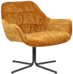 Sessel In Textil Dunkelgelb