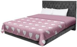 Tagesdecke Herzen rosa/weiß 220 x 240 cm