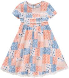 Mädchen Patchwork-Kleid mit Spitze (Nur online)
