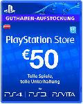 Saturn PlayStation Store Guthaben-Aufstockung 50 EUR [PS4, PS3, PS Vita PSN Code - österreichisches Konto]