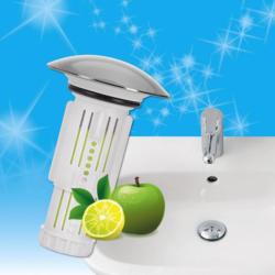 Abfluss-Fee für Waschbecken mit Duftstein Zitrone/Apfel