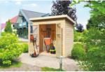 OBI Karibu Holz-Gartenhaus Neuenburg 1 Natur 208 cm x 150 cm