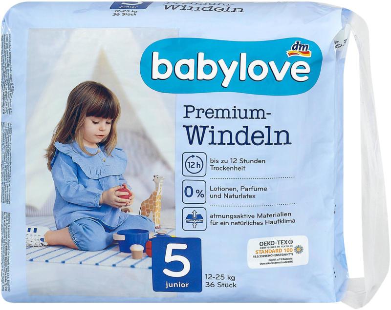 babylove Premium-Windeln Gr. 5 junior (12-25 kg)