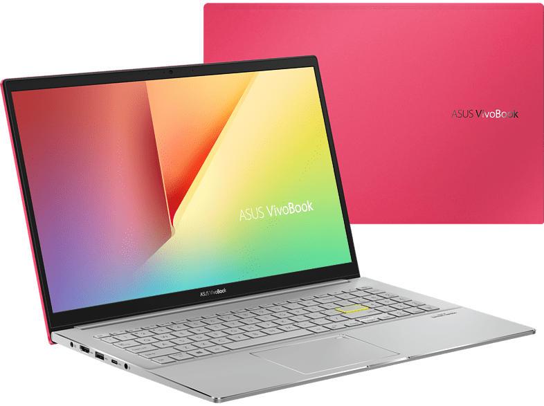 ASUS VivoBook S15 (S533FL-BQ024T), Notebook mit 15.6 Zoll Display, Core™ i7 Prozessor, 8 GB RAM, 512 GB SSD, 32 GB SSD, GeForce MX250, Resolute Red