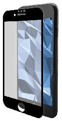 Displayschutzglas für iPhone 6 Plus/7 Plus/8 Plus, transparent/schwarz (IPG-5006-2.5D)